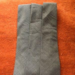 Grey skinny ties NWOT